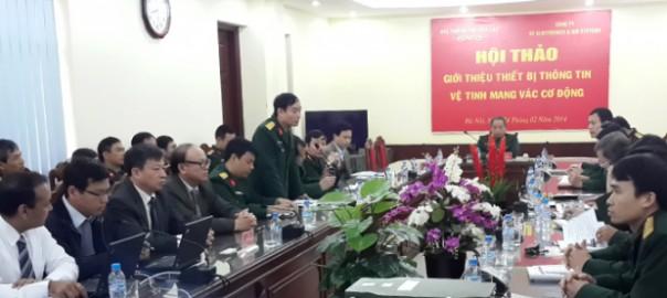 Thủ trưởng BTLTT phát biểu khai mạc Hội thảo